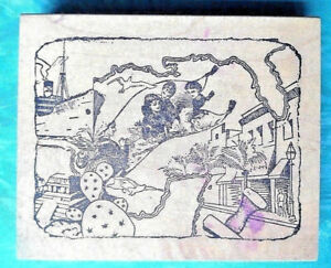 Cruise-Ship-Rubber-Stamp-Gulf-of-Mexico-Florida-Collage-Magic-Kids-Wild-Crazy