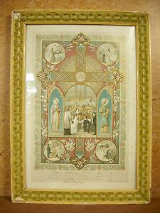 Objectif Gravure Religieuse Pour Le Baptême & Communion De Julienne Prodhomme 1899