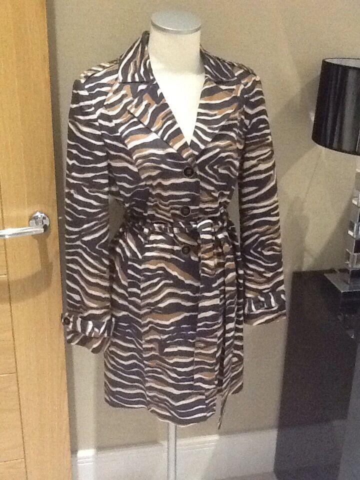 Per una Raincoat mac animal print size size size 12 2f4b0d