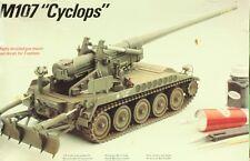 Italeri Testors 1:35 US M107 Cyclops Self Propelled Gun Plastic Model Kit #791U