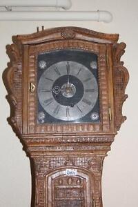 Uhr, Standuhr, alte Renaissance Barock Uhr, Eiche um 1680 süddeutsch * 2454