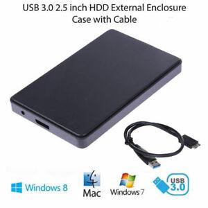 """2TB / 4TB USB 3.0 SATA Externe 2,5"""" HD HDD Festplatte Gehäuse Festplattengehäuse"""
