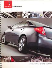 2005 Pontiac G6 Original Car Product Guide Brochure - Details Book