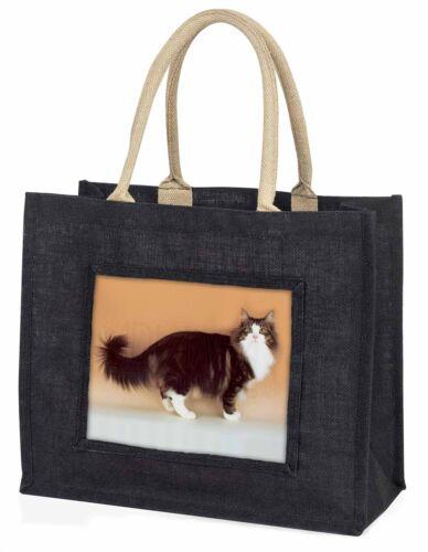 Norwegian Forest Cat Large Black Shopping Bag Christmas Present Idea AC-40BLB