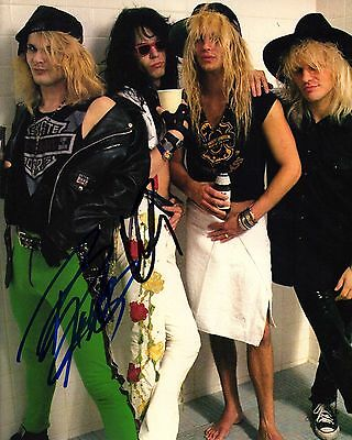 Band Signed 8x10 Photo Proof Ad4 Coa Yet Not Vulgar Poison Gfa Rikki Rockett & Bobby Dall