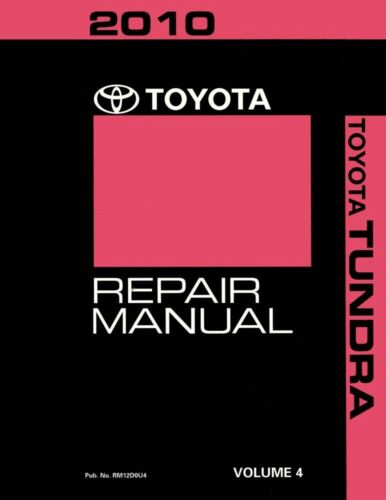 2010 Toyota Tundra Shop Service Repair Manual Volume 4 Only