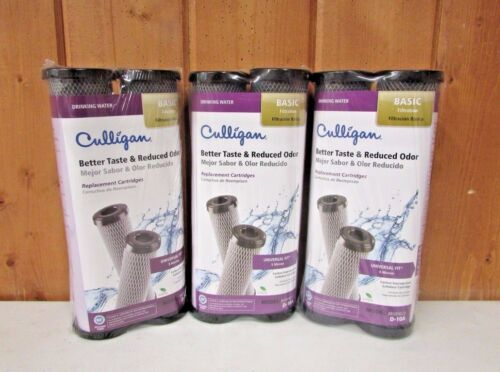 6 Culligan D-10A Water Filter Replacement Cartridges ~ New