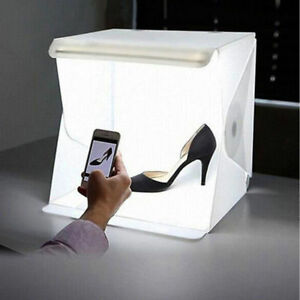 mini photo studio lighting box photography backdrop led lightroom