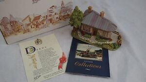 Lilliput-Lane-Cottage-ciudad-natal-Depot-American-hitos-por-Ray-dia-En-Caja-1990