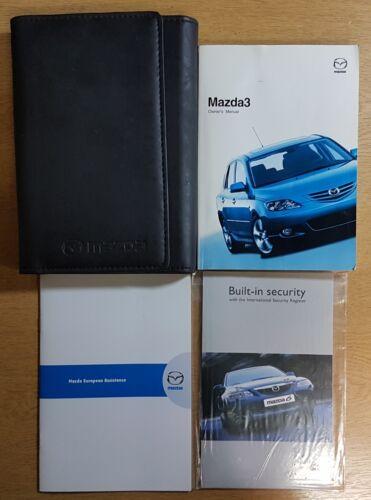MAZDA 3 HANDBOOK OWNERS MANUAL WALLET 2003-2006 PACK G-704