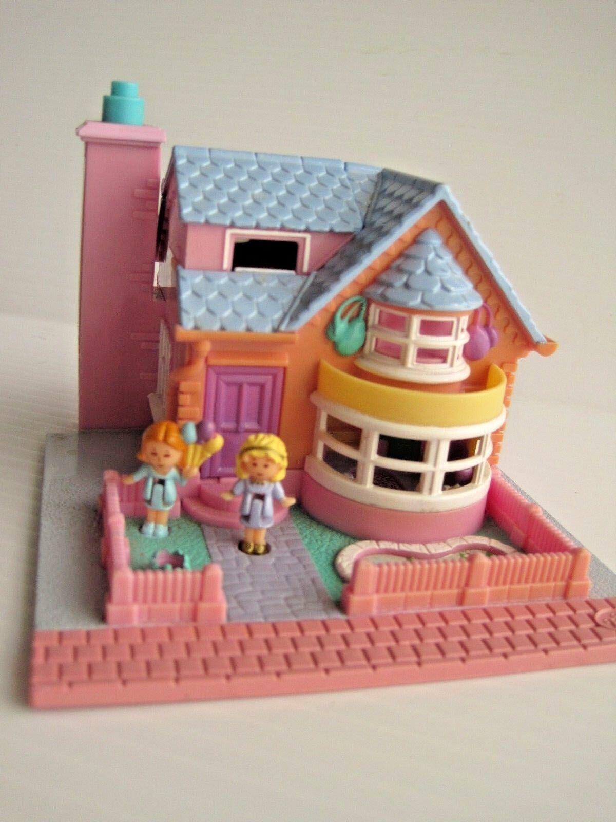 Polly Pocket azulbird Toys Bay ventana casa completa y las luces funcionan  1993