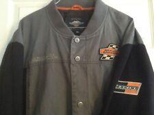 Gray /& Black 97465-18VM Harley-Davidson Men/'s Screamin/' Eagle Casual Jacket