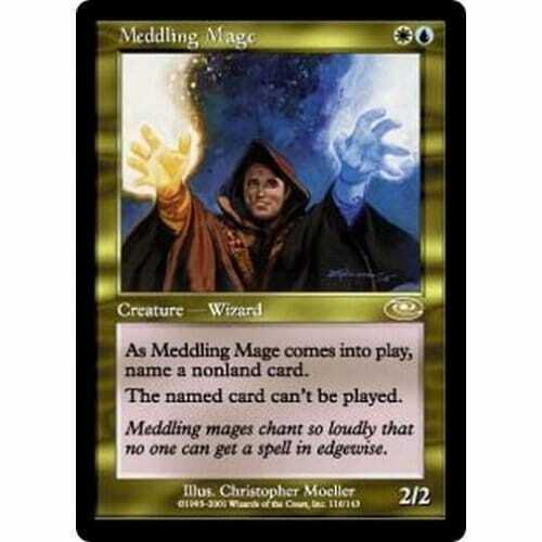 MTG MTG MTG PLANESHIFT  Meddling Mage - Condition  Excellent 6df009