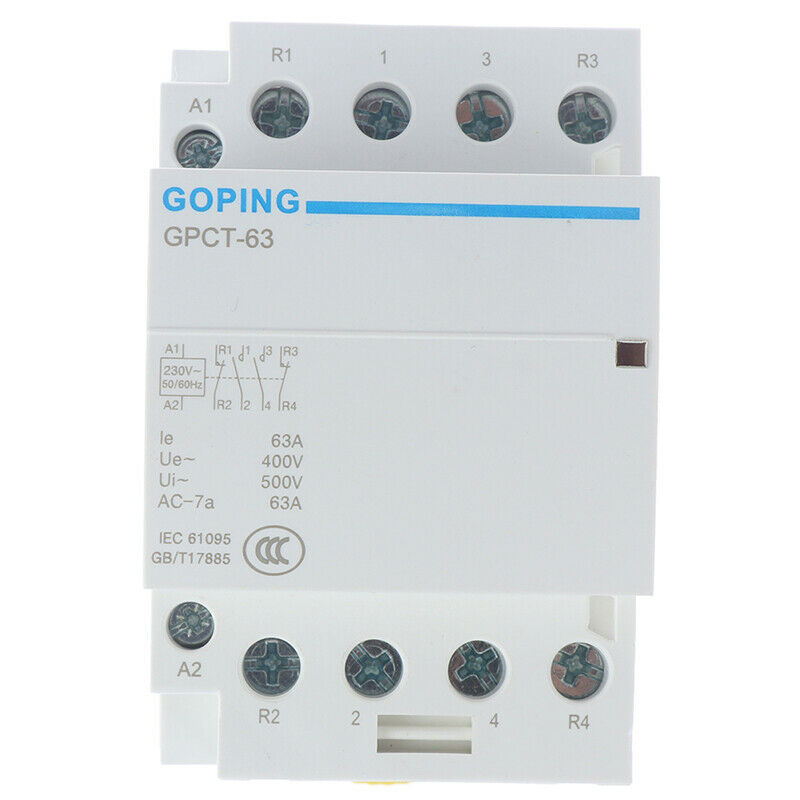 HAGER ES 220 20A 239220 9 N//O CONTACTOR  20 AMP 2 POLE 4KW AC NORMALLY OPEN