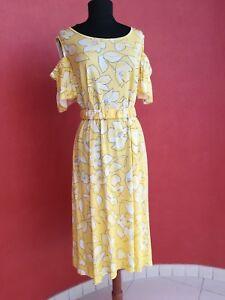 floreale Giallo Sword Marella Xxl con Stampato motivo Dress Sports Size wfxqqn4BX