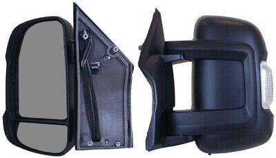 Citroen Relay 2006-2019 Door Wing Mirror Electric Black N//S Passenger Side Left
