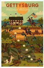 Gettysburg National Military Park, Civil War, Pennsylvania PA -- Modern Postcard