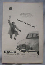 1959 Renault Dauphine Gordini Original advert No.1