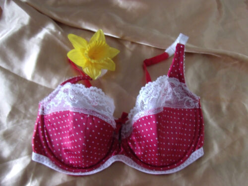 Marks /& Spencer red mix 36C//32DD green mix 30F polka dot underwired padded bras