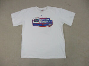 Nike-Florida-Gators-Shirt-Adult-Extra-Large-White-UF-Basketball-Champions-Mens