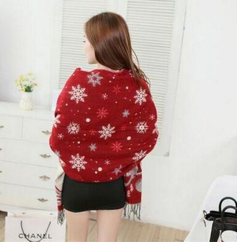 Winter Snowflakes Design Scarfs Christmas Fashion Ladies Shawls Wear Accessories