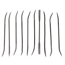 10pc Wood Rasp Coarse Cut Riffler File Set Double Ended Bearing Steel 175mm
