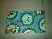 1-bugs Bunny Holiday Print Travel Size Pillow Pillowcase 12 X 20 & Handmade