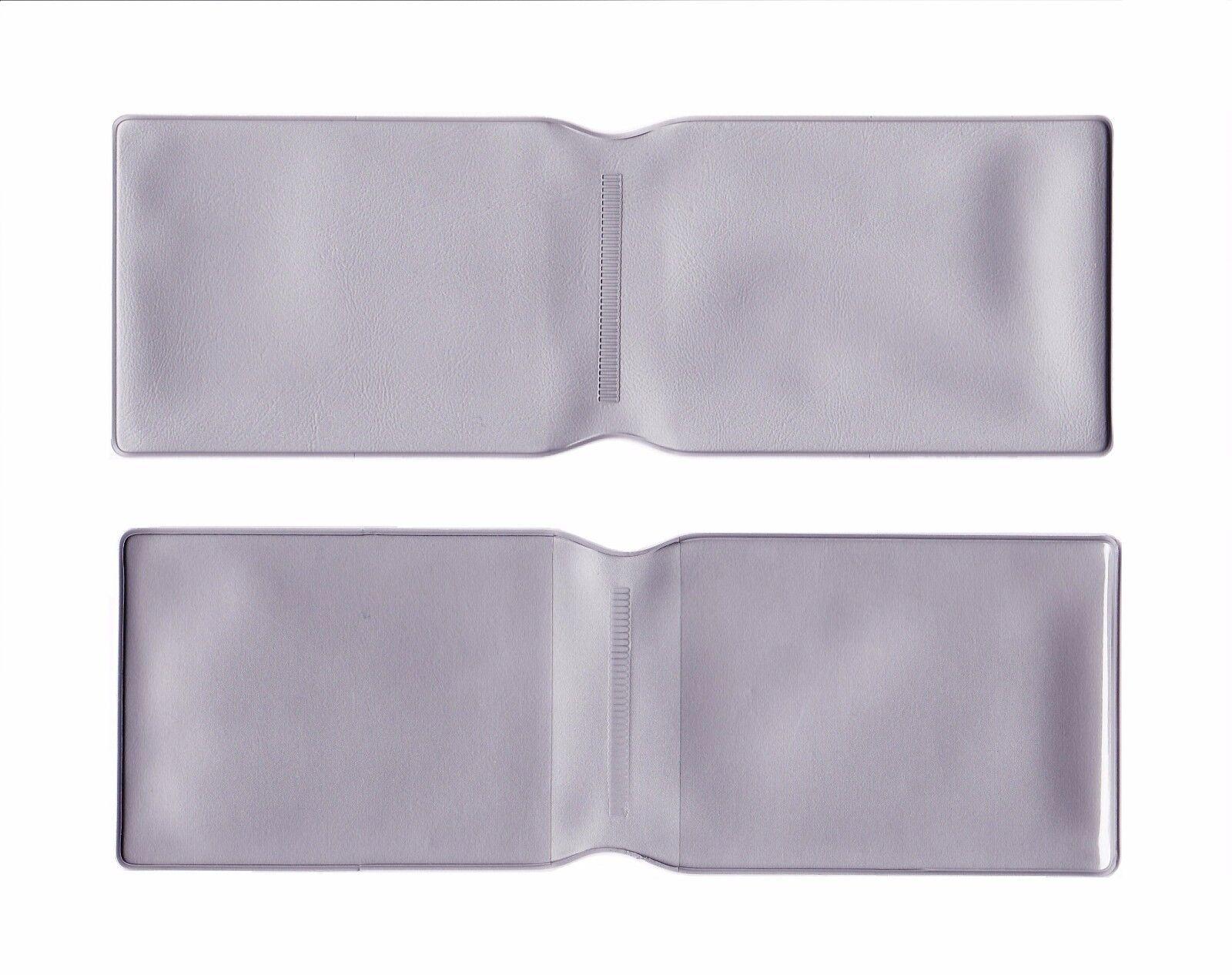 100 X Plástico Ostra Tarjeta Billetera Billetera Billetera De Plata/Soporte/Cubierta dedb17