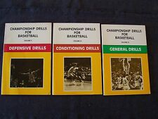 books Championship Drills for Basketball Vol II, III & IV, conditioning, defense