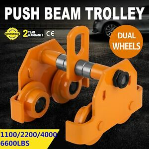 0-5T-2T-3T-Ton-Push-Beam-Trolley-For-Heavy-Loads-To-6600-Lb-Fits-Straight-I-Beam