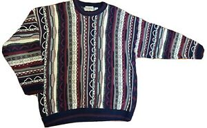 VTG-Cotton-Traders-Bill-Cosby-Biggie-Texturiert-Pullover-Coogie-Style-Maenner-Groesse-XL-Heavy