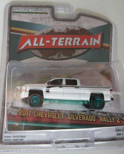 GreenLight All-Terrain 1:64 rar 2017 chevrolet silverado Rally-Green Machine