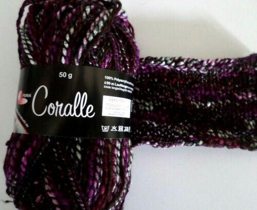 Effektgarn Wolle  Strickwolle Strickgarn Coralle  Fb.774 50g  NEU