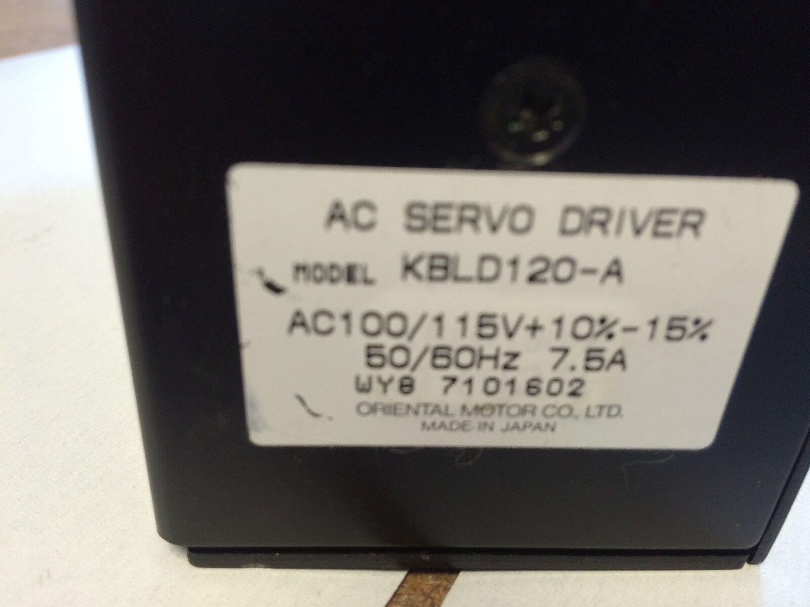 Oriental Motor Vexta Kbld120a Ac Servo Driver Ebay Wiring Diagram Norton Secured Powered By Verisign