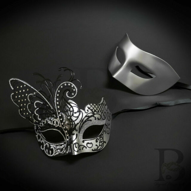 FHS Royal Blue His /& Hers Venetian Masquerade Masks for Couples