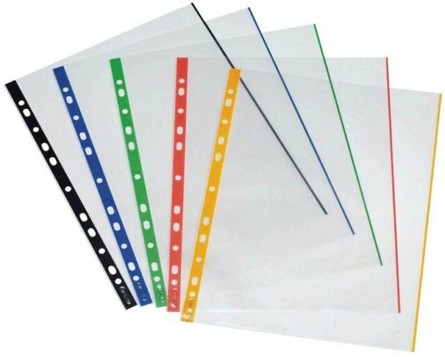 50-100 proOFFICE Sichthüllen verschiedene Farben zur Auswahl DIN A4