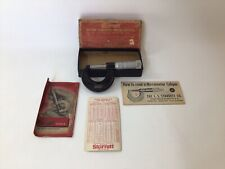 Vintage Starrett 1 Micrometer Caliper No 436 With Original Box Amp Paperwork
