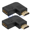 2x-HDMI-Right-Angle-Port-Saver-M-F-Adapter-Vertical-Flat-Left-90-Degree thumbnail 1