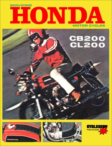 1973 1974 1975 1976 Honda CB200 CL200 Shop Manual Cycleserv Repair Service