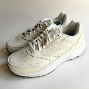 bce0acf5184 Womens BROOKS DYAD WALKER Ivory Off White Walking Shoes SIZE 9 WIDE ...