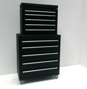 Tool-Box-Black-amp-Chrome-1-10-scale-Shop-Garage-Crawler-Doll-House-Accessories