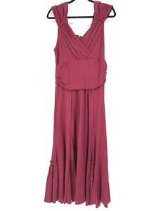 Peruvian-Connection-Vestido-Midi-para-mujer-talla-grande-rojo-frambuesa-se-reunieron-Grecian