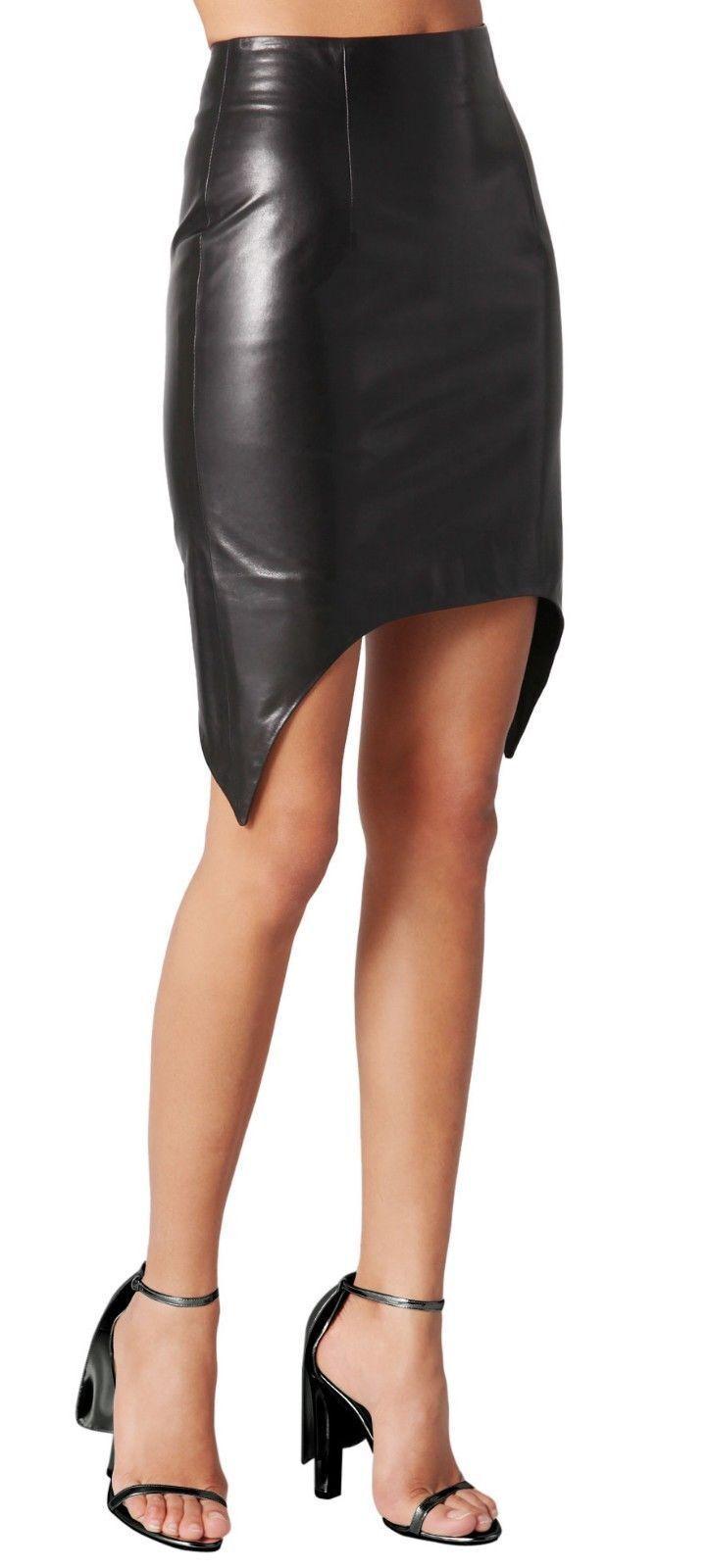 Womens Leather Skirts Girls Club Party Wear Designer Asymmetrical Hot Mini Skirt