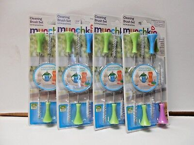 Lot Of 4 Munchkin Cleaning Brush Set 4 Brushes Bpa Free Pb