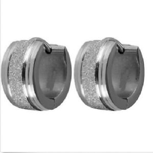 Das Bild wird geladen Titanium-Klapp-Creolen-Kreolen-Ohrringe -Scharnier-Clip-Titan- fe02c1b1ee