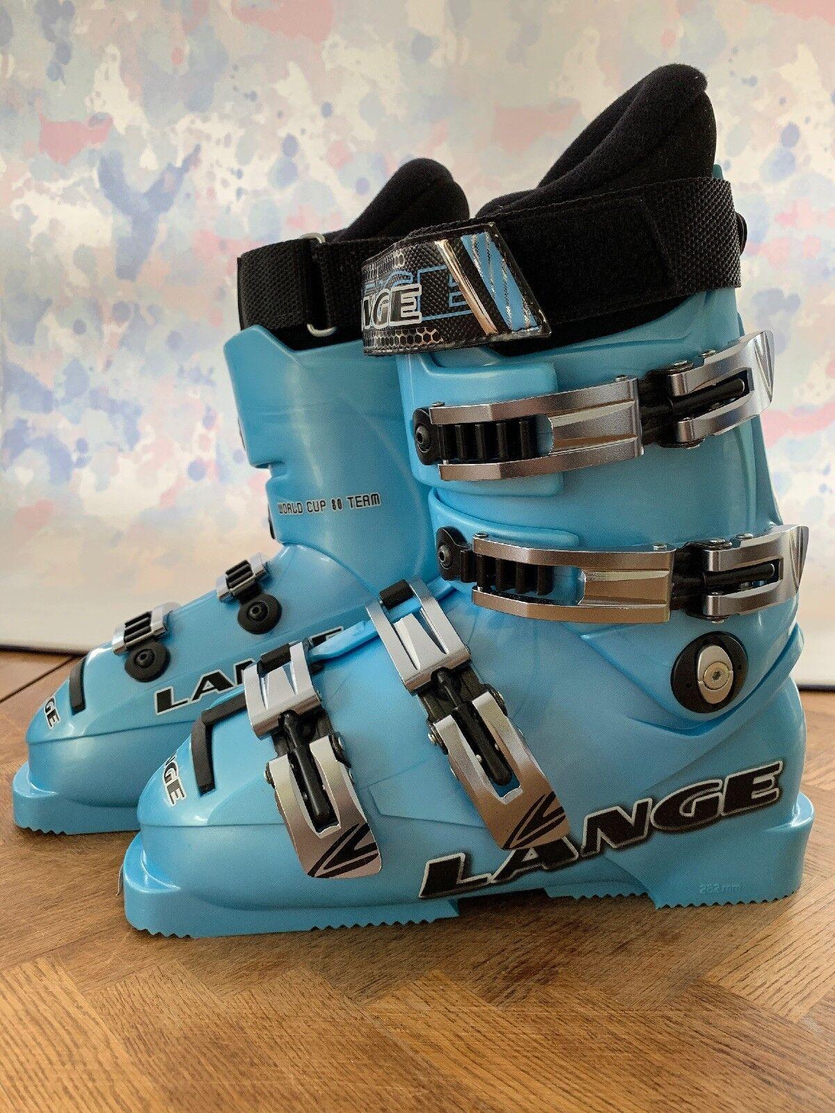 Lange Ski Boots World Cup 80 5.5 38.5 Junior bluee
