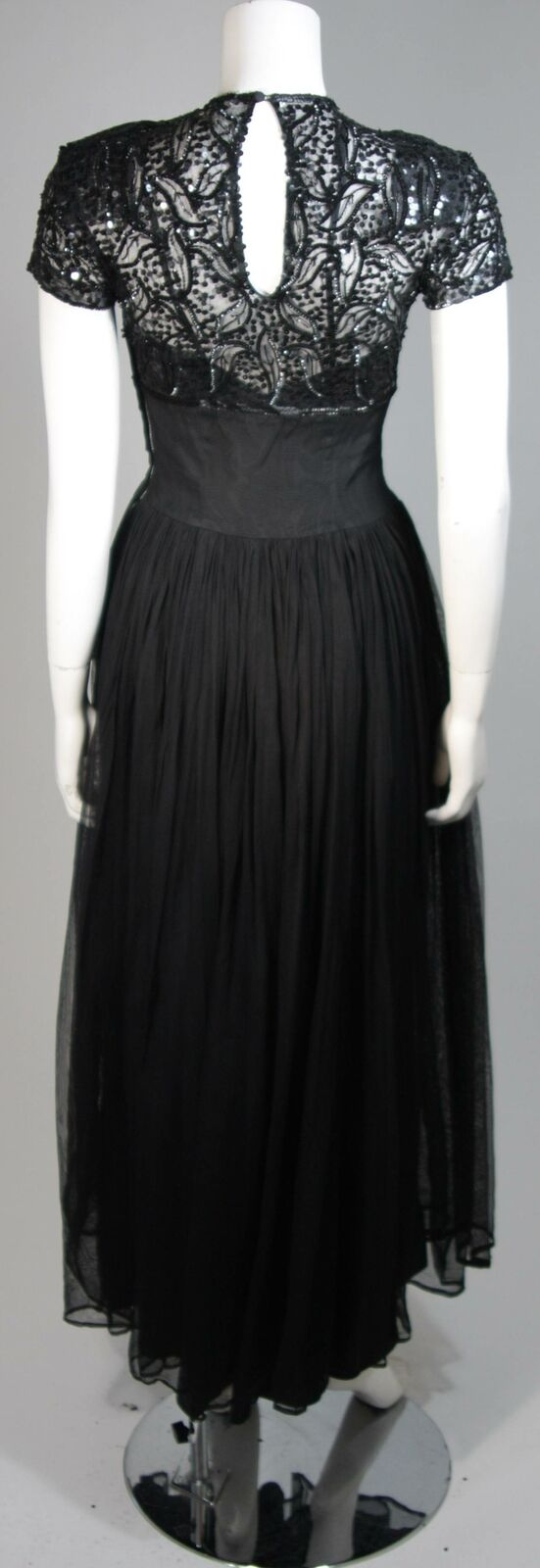 CEIL CHAPMAN Attributed Black Gown Size Small - image 9