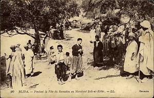 Blida-Algerien-Afrika-s-w-AK-1922-datiert-Pendant-la-Fete-du-Ramadou-au-Marabout