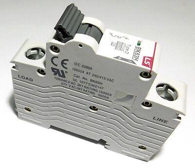 1 Amp LSis 1 Pole Din Rail MCB Circuit Breaker UL1077 6kA @ 277V;10kA @ 120//240V