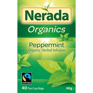 Nerada Organics Peppermint Tea Bags 40 Pack 60g